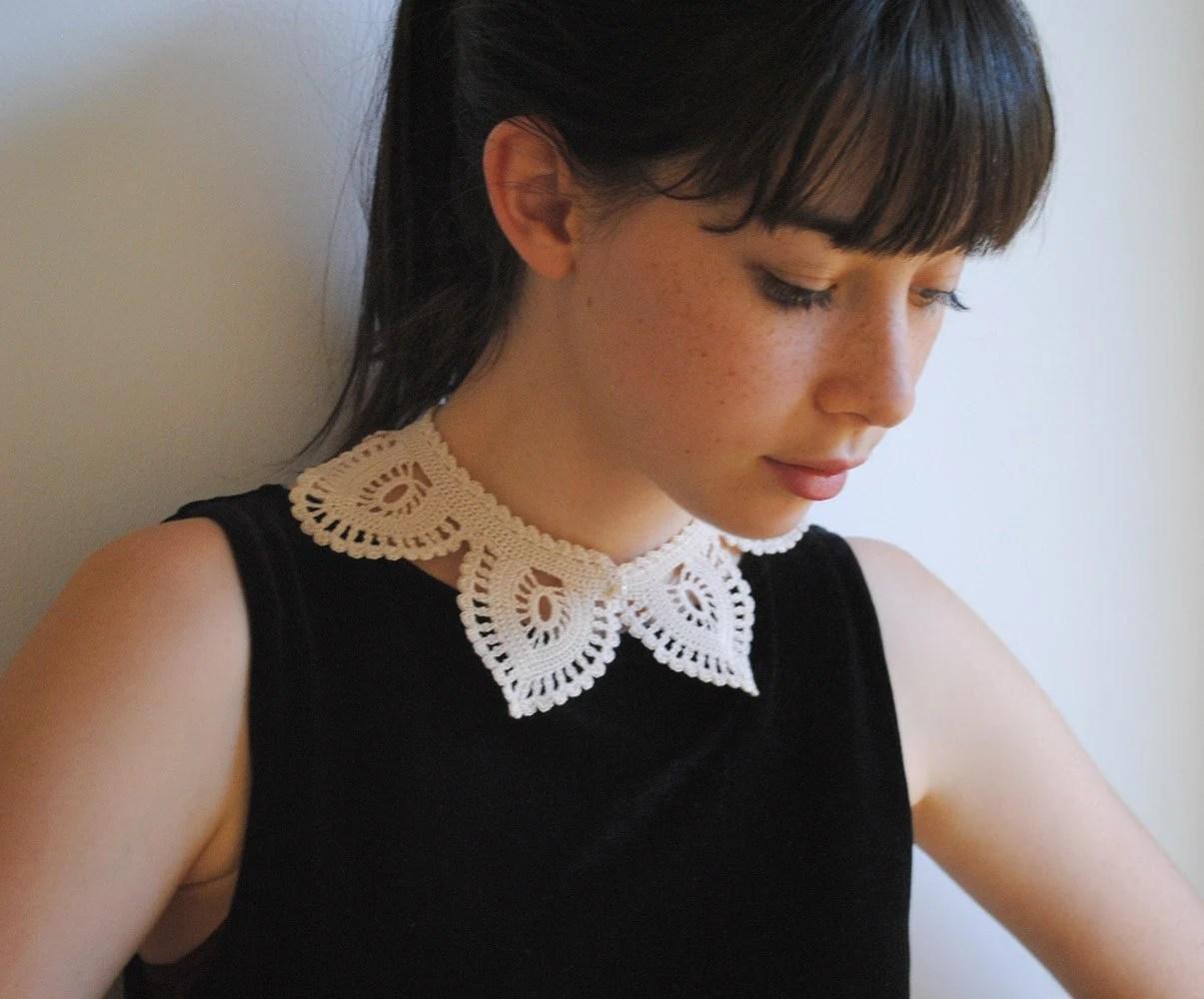 Shirt Collar Ecru White Cotton Fashion Custom Made - twoknit
