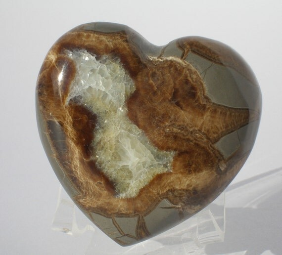 Septarian Heart Stone Hand Carved And Polished Valentine Heart