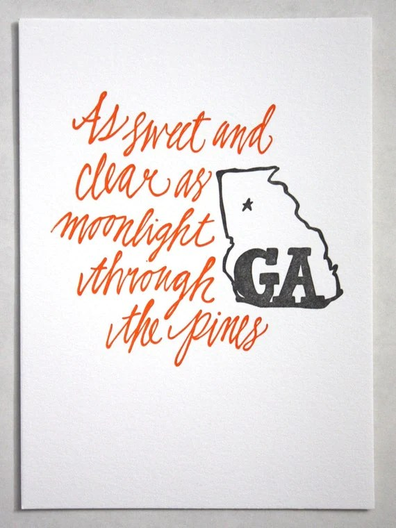 Georgia Letterpress Art Print