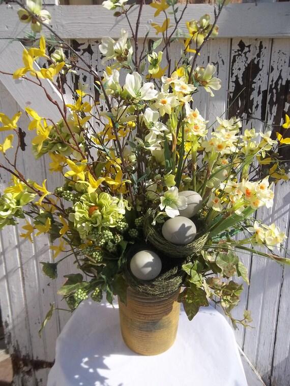 Flower Centerpiece Tall Spring Flower Arrangement For Table
