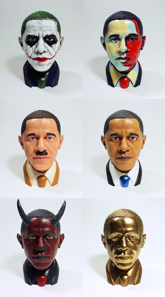 Faces of Obama - A series of 6 busts
