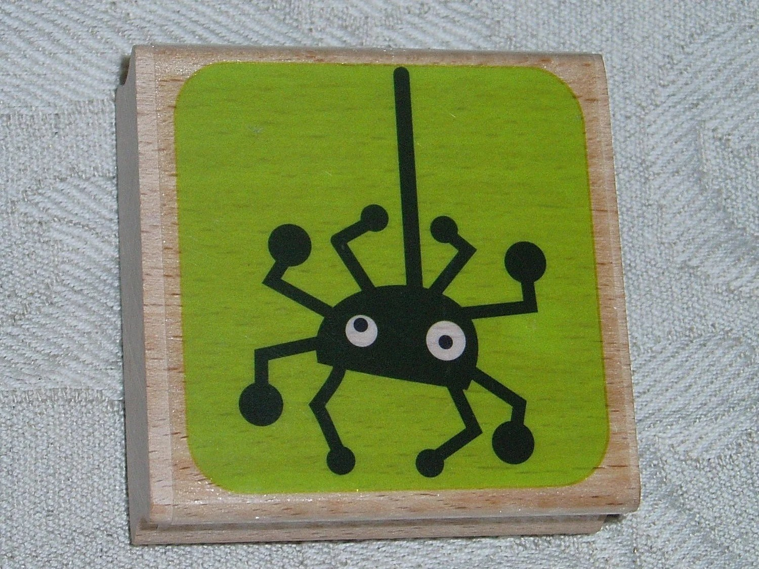 Halloween Spider Stamp Wood Block Mounted Rubber from Studio G for Spooky Card Making, Scrapbooking Crafts - VintageCarolina