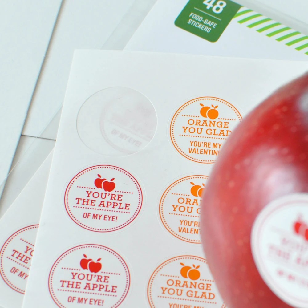 48 Naturally Sweet Fruit Stickers - Food Safe