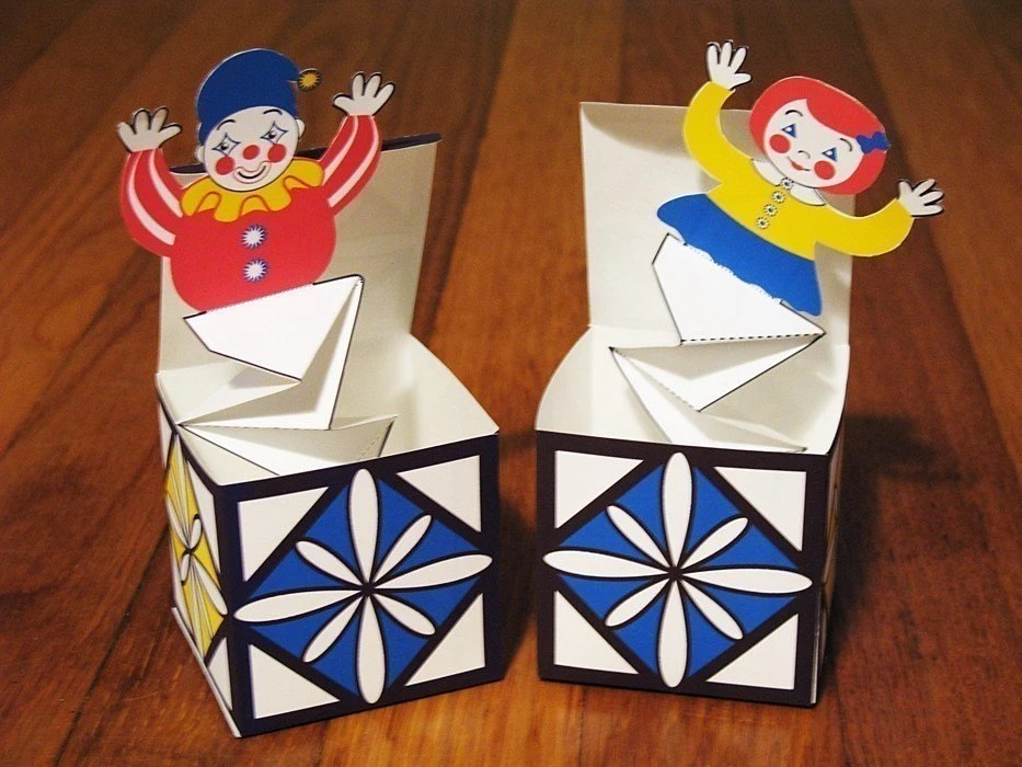 Jack In The Box Pop Up DIY PDF Toy Crafts By AmyPerrotti