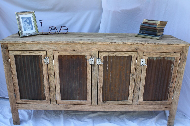 Kara's Custom Rustic Barn Wood Credenza Or Sideboard