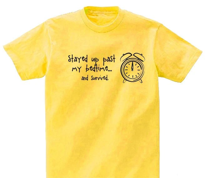 Stayed up past my bedtime...and survived T-Shirt - Not The End of the World Designs - paintedpooches