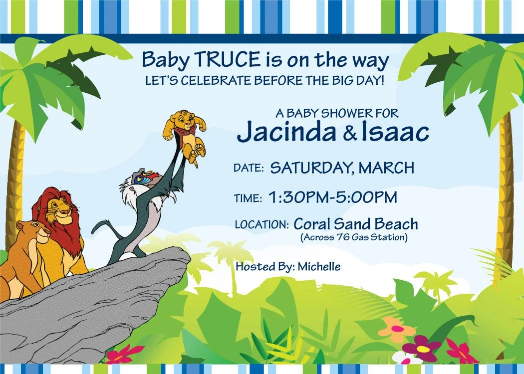 baby shower invitation free lion king baby shower invitations templates