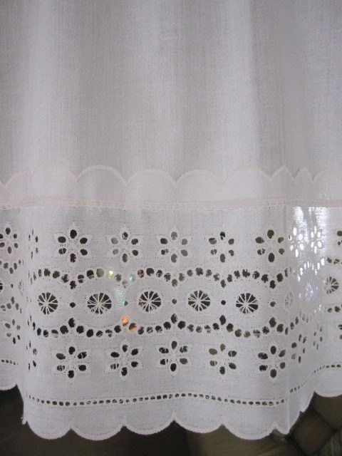 Vintage Eyelet Lace Curtains Eyelet Lace Curtain By TheCottageWay