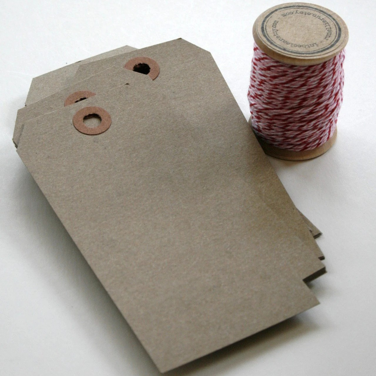Items Similar To Large Shipping Paper Tags Brown Bag