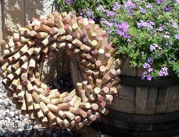 Wine Country Wine Cork Wreath
