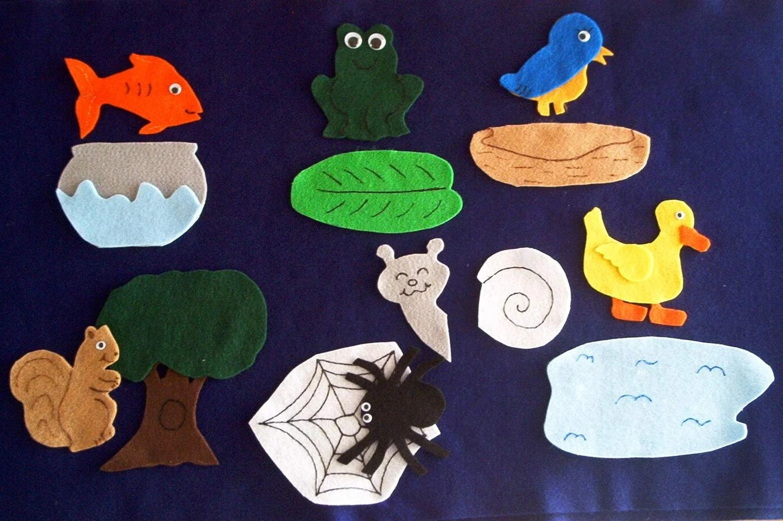 Teaching Resource Animal Homes Matching Flannel Board Felt