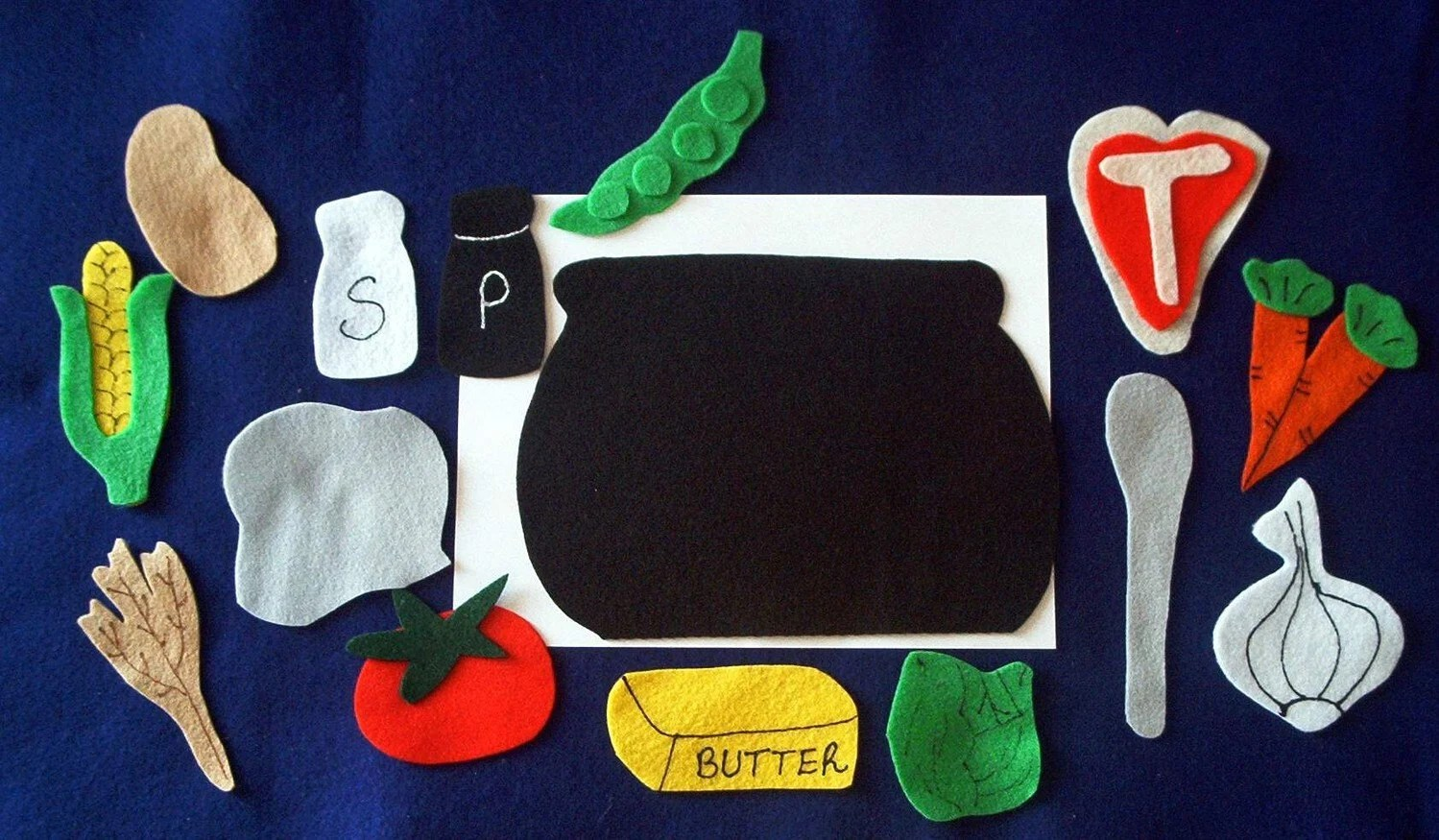 Stone Soup Flannel Board Felt Story Set And Sequencing Cards