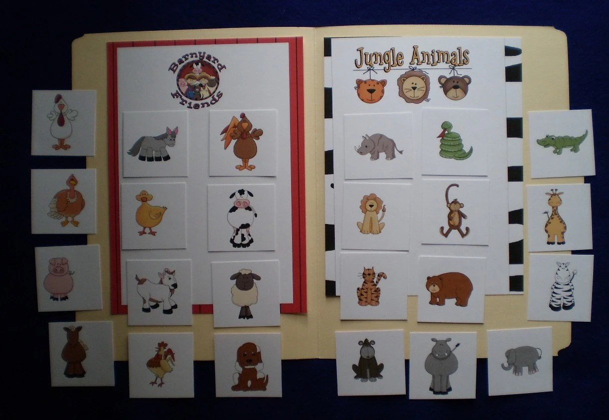 Farm Animals And Jungle Animals Sorting Laminated By Feltresources