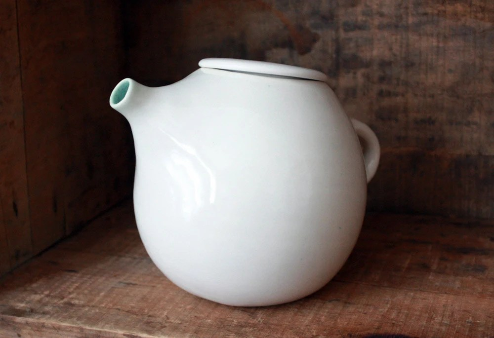 White Teapot for Two - clamlab
