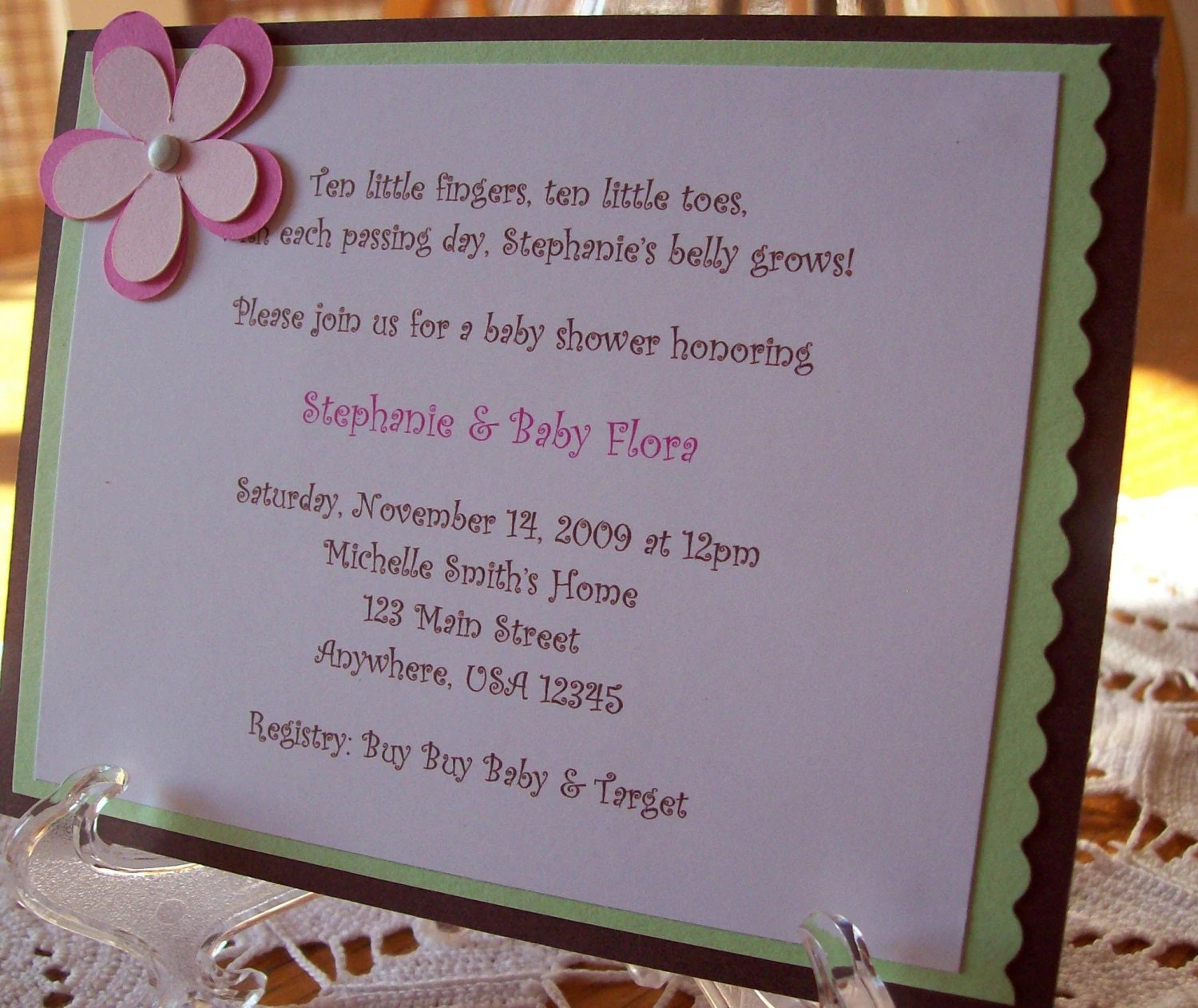 Custom Handmade Baby Shower Invitations Or By Sillylittlegoose