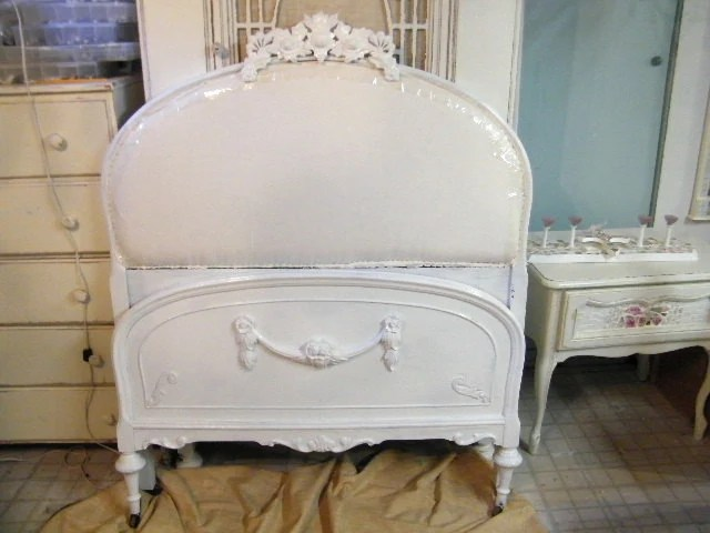 Vintage Upholstered Twin BedShabby Chic FREE SHIPPING