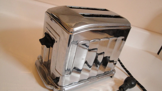1930s Toastmaster Toaster Crome Bakelite Art Deco 1B5