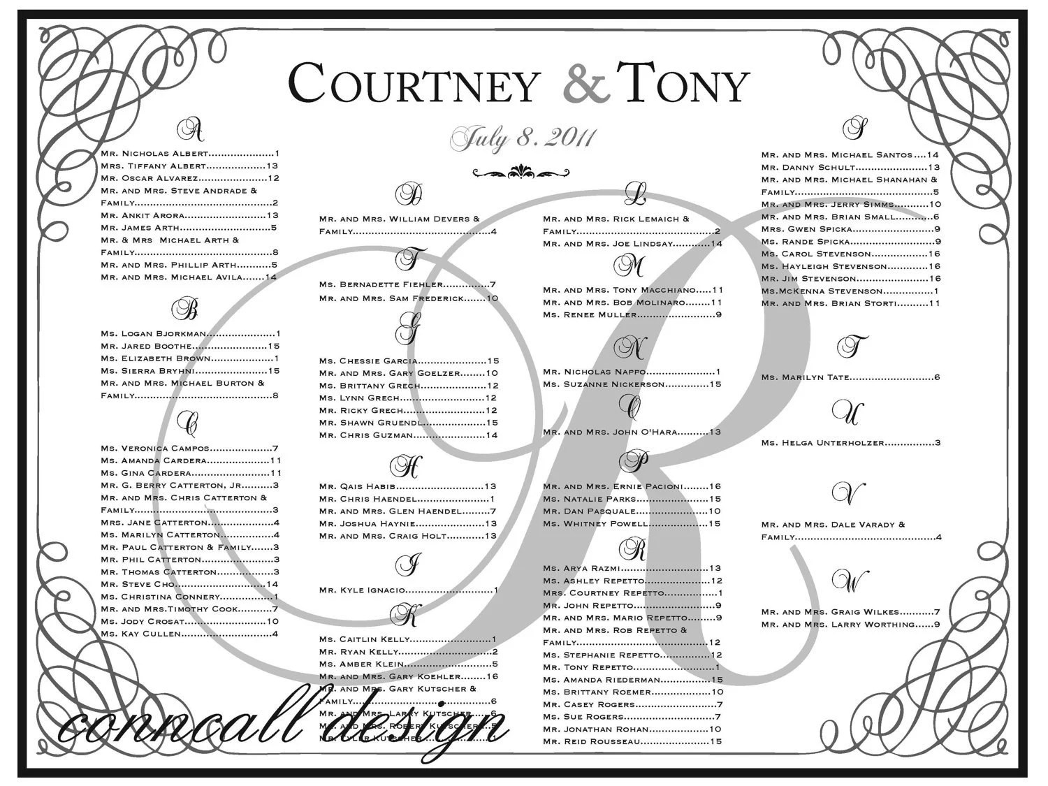 Wedding Seating Chart Reception Seating Table By Charmingpapershop