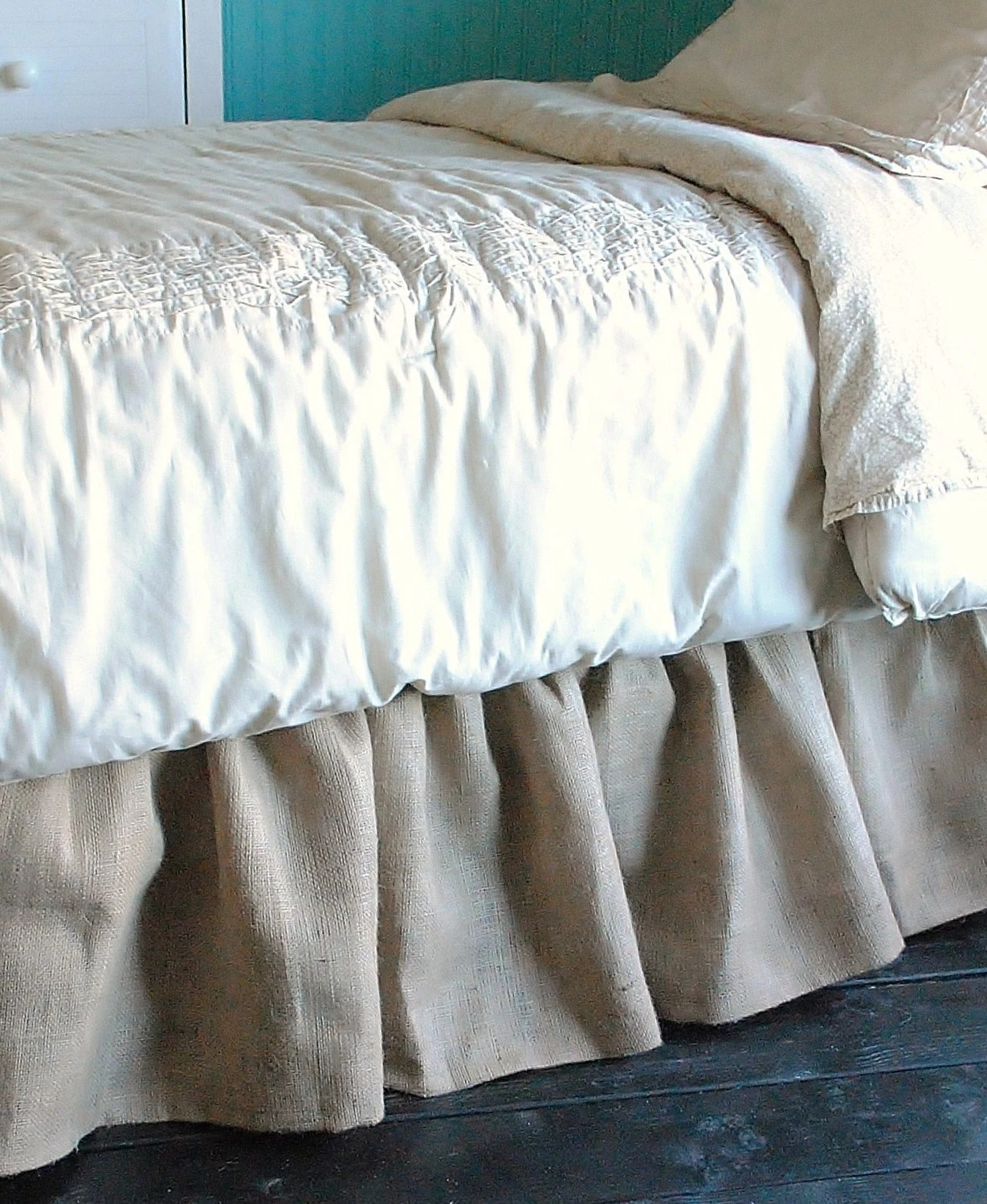 Burlap Bed Skirt Queen And King