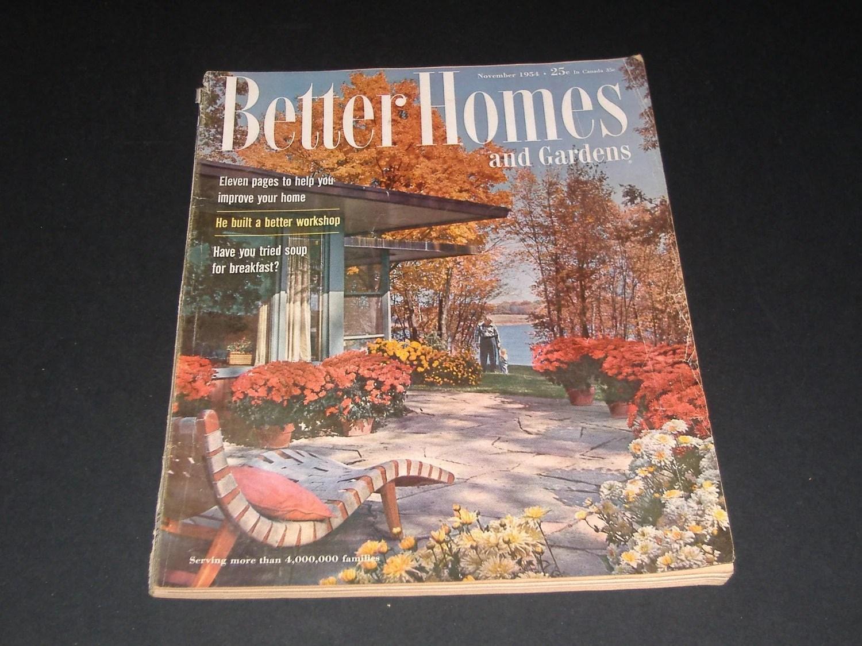 Vintage Better Homes And Gardens Magazine November 1954
