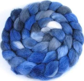 Spinning Fiber - Baby Alpaca Combed Top / Roving - Midnight Sky - UpstreamAlpacas