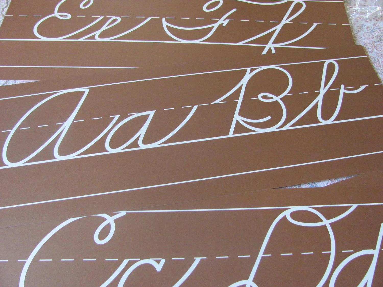 Vintage Cursive Alphabet Penmanship Wall Border Set Zaner