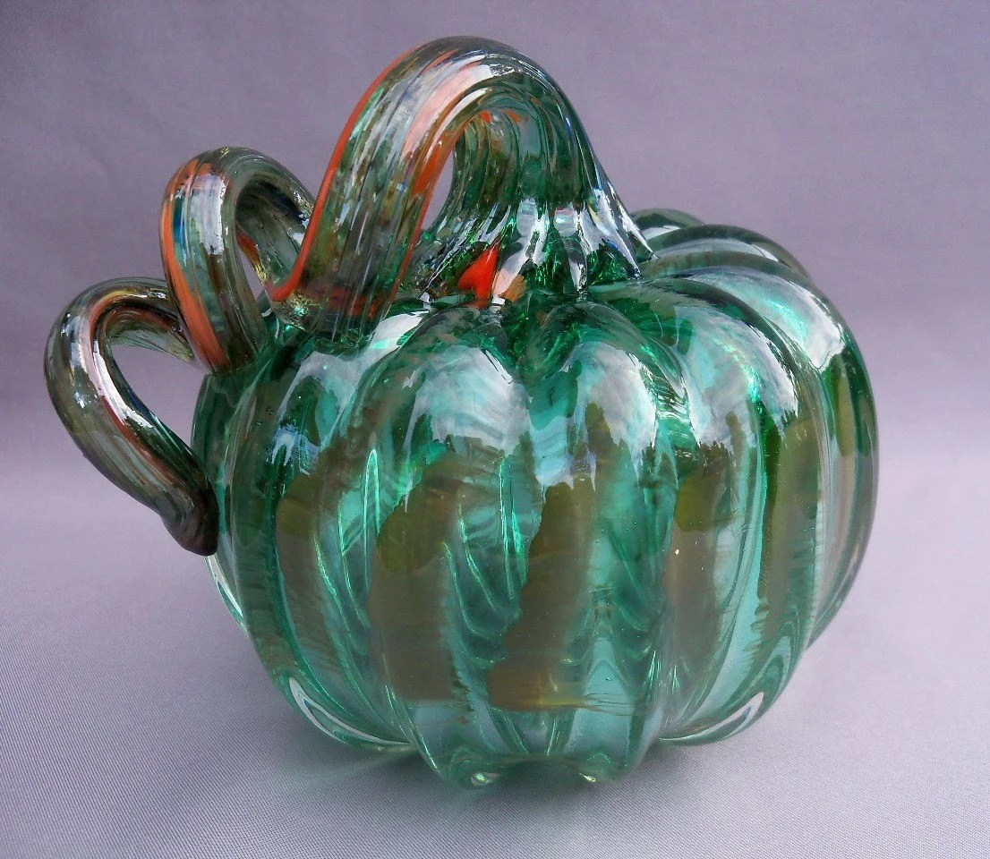 Hand Blown Art Glass Pumpkin By Route4glass On Etsy