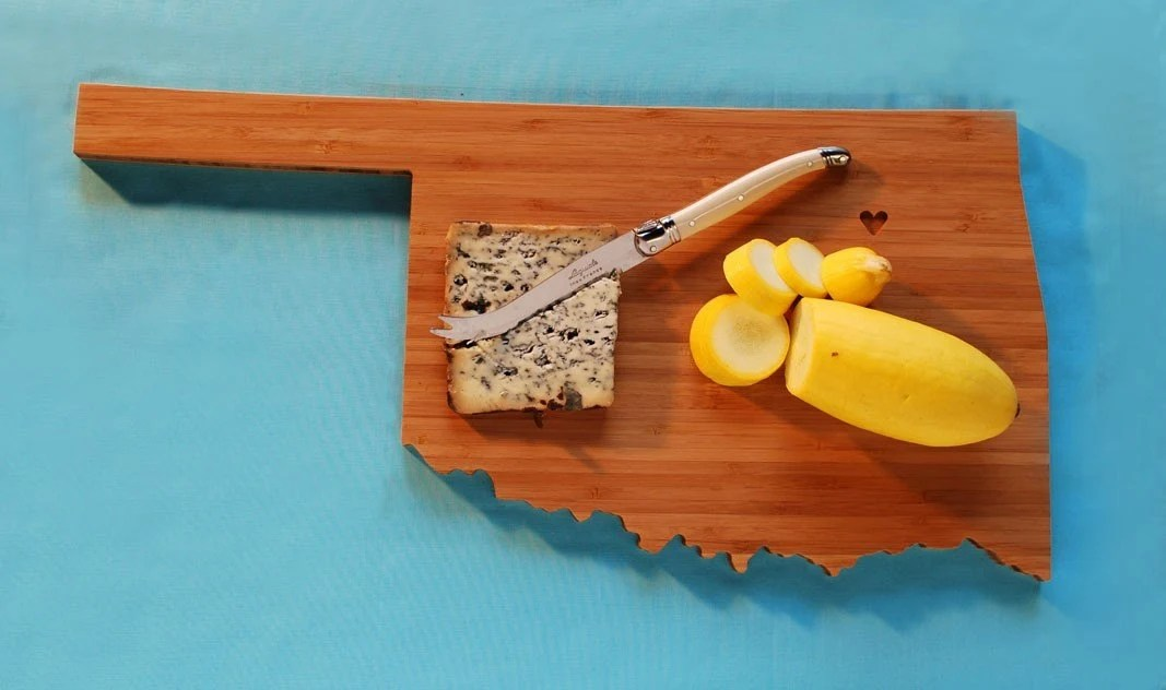 AHeirloom's Oklahoma State Shaped Cutting Board