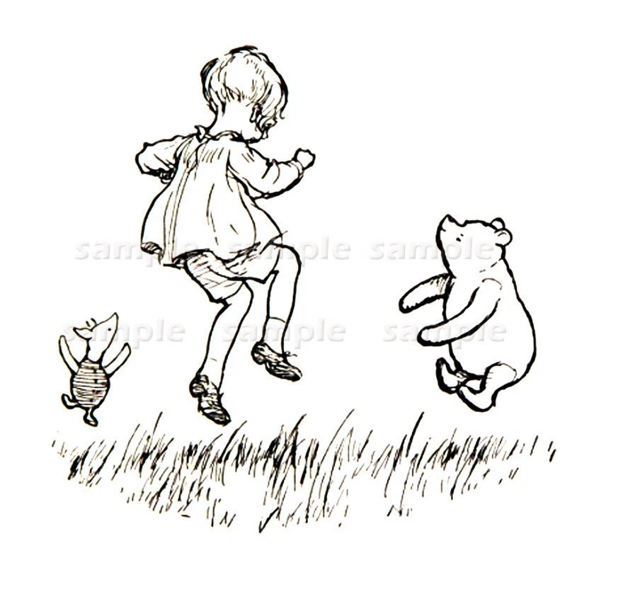 pooh black and white winnie the pooh in black and