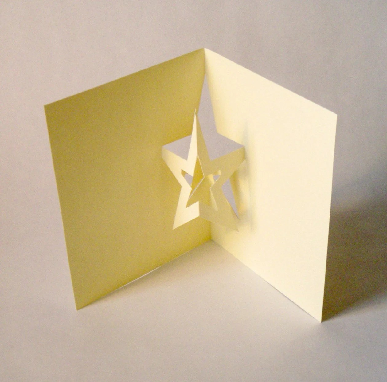Items Similar To Star Pop Up Card On Etsy