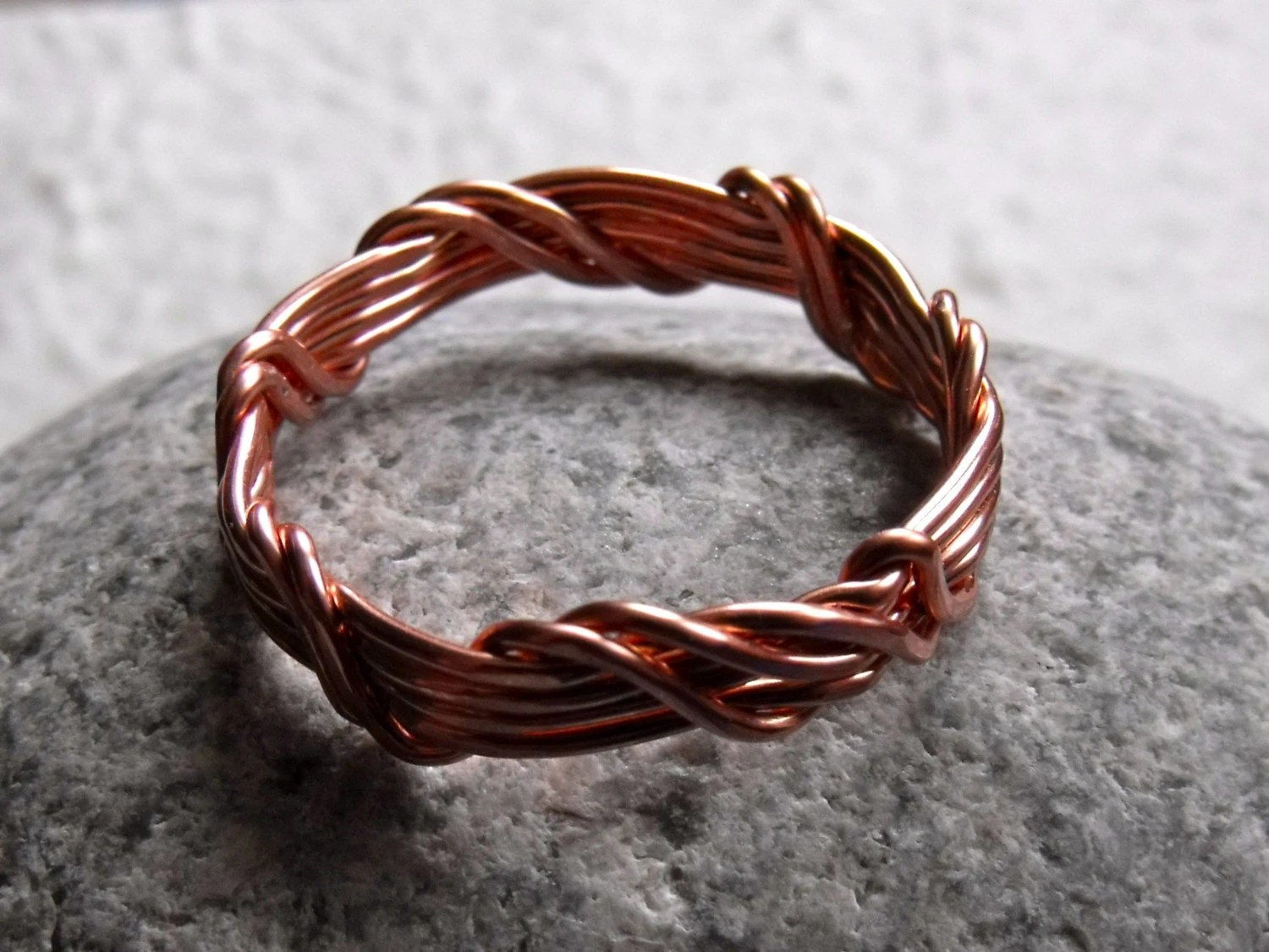 Mens Copper Wire Wrapped Ring