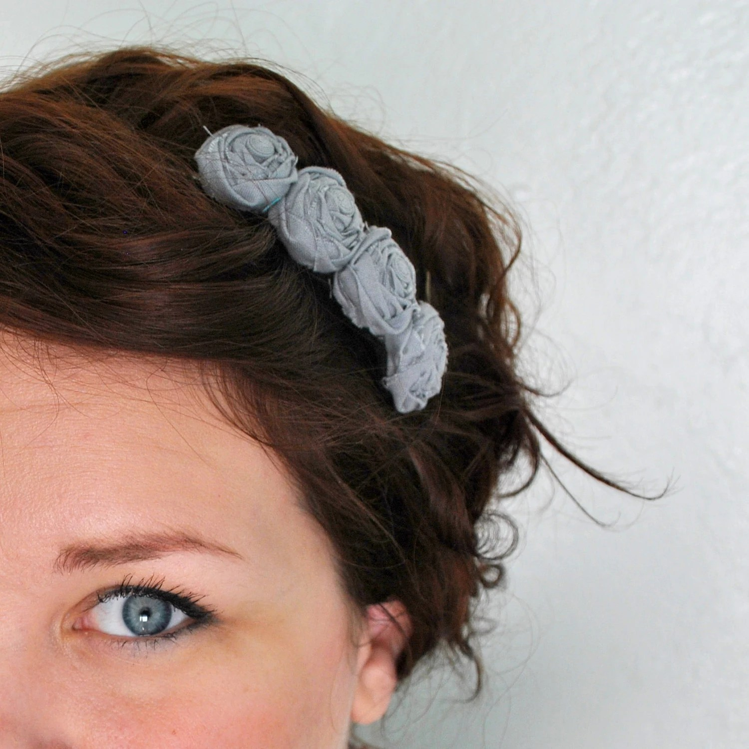 Rosette Headband - Small Rosettes - Choose your Color - Christmas in July christmasinjuly sale - FoldingChairDesigns