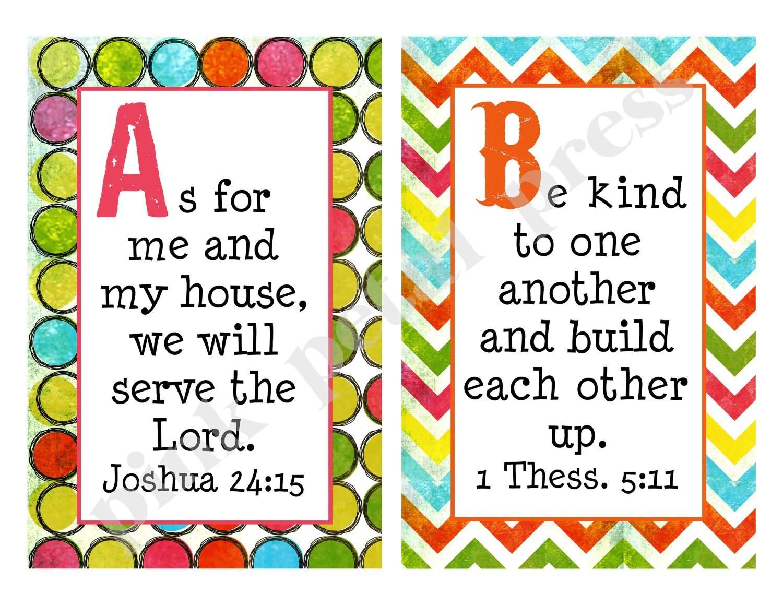 Alphabet Bible Verse Cards Printable