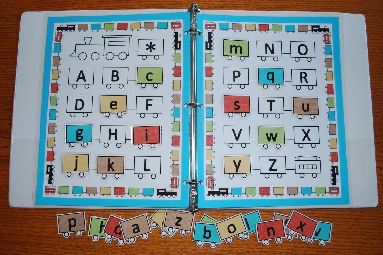Train Alphabet Printable Game
