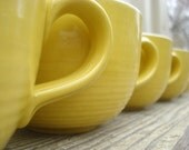 Sunny Delight Coffee Cups Yellow Retro  Set of 8 - AntoinettesWhims
