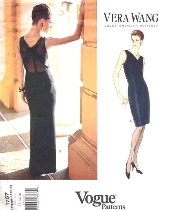 Vera Wang cocktail or evening dress pattern - Vogue 1767