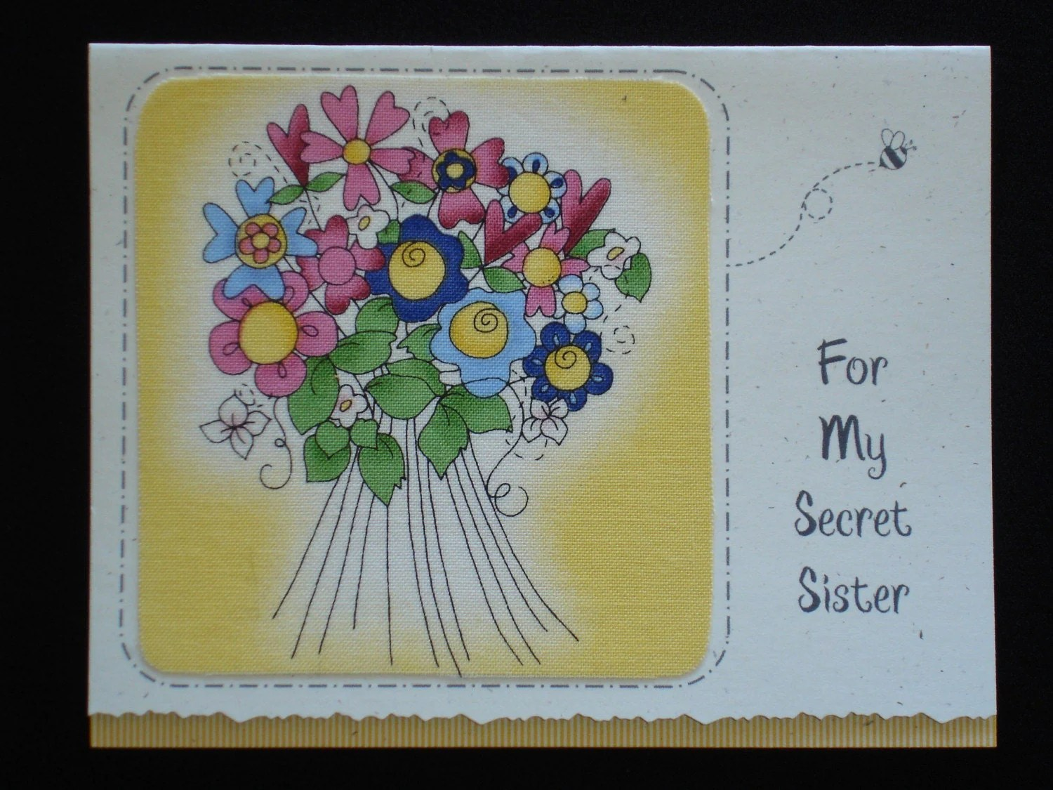 Secret Sister Birthday Card By Lynelle Fb45 Designed With