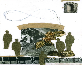 Immortal a collage on paper - AloArt