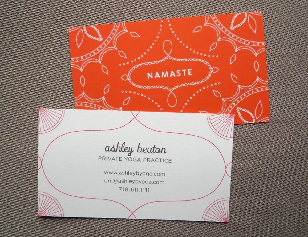 100 Custom Business Cards Yoga Calling Cards Namaste
