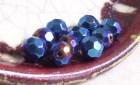 Winter Blue Golden Plum - Czech Glass - Faceted 10mm Round - 10 Beads - AliciasBeads
