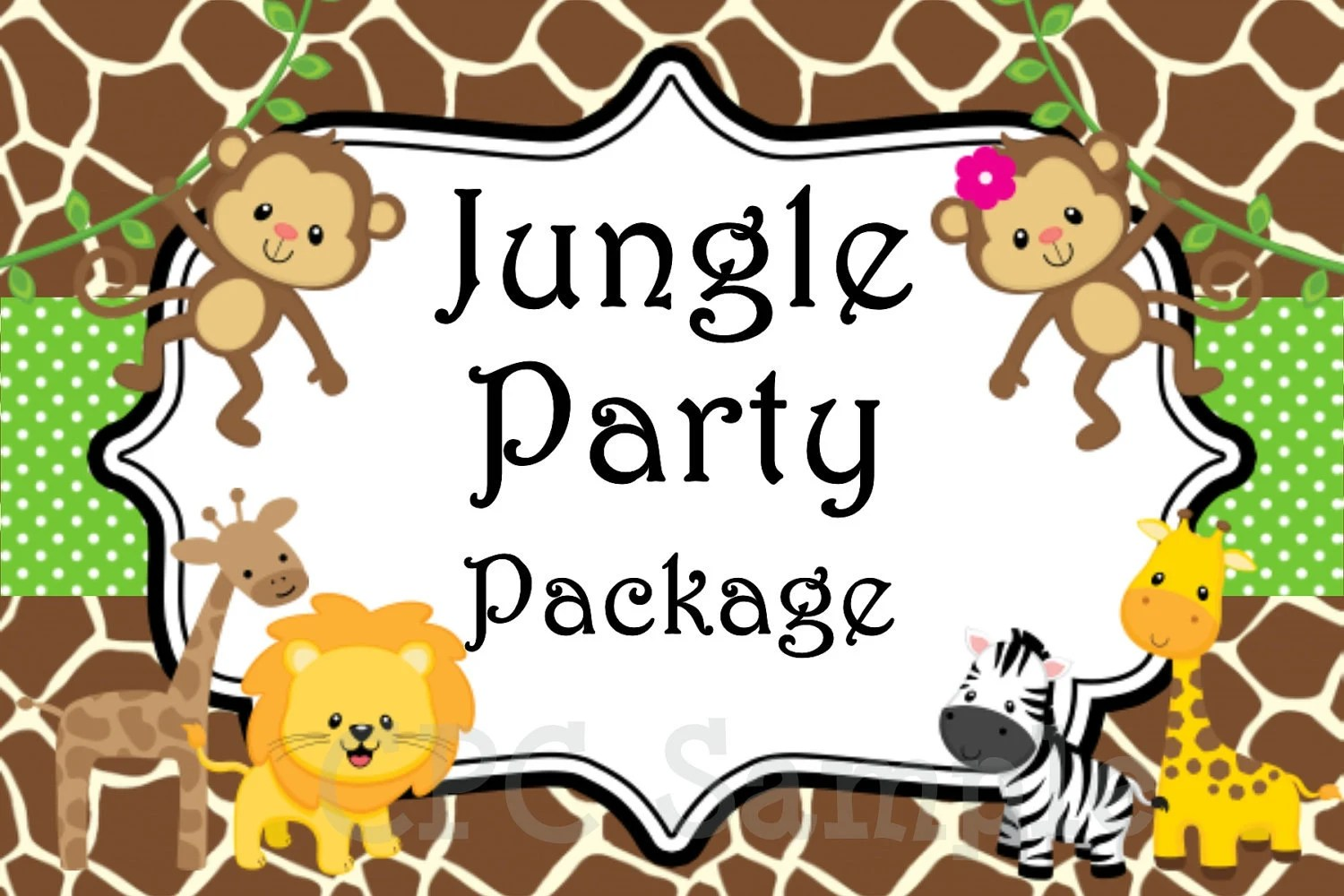 Jungle Safari Birthday Party Invitation By Cutiestiedyeboutique