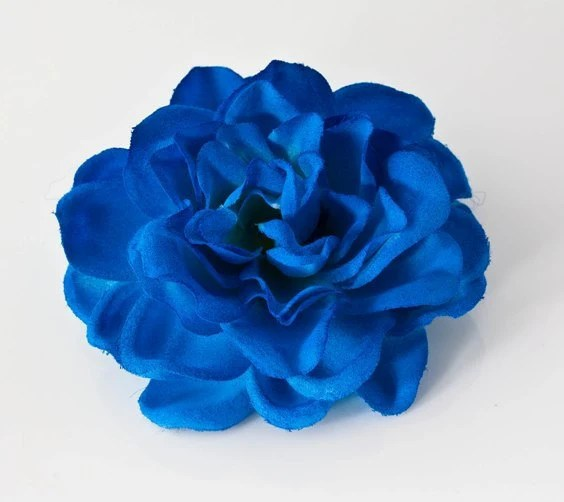 Bridal Deep Blue Gardenia Hair Flower Bobby Pin By