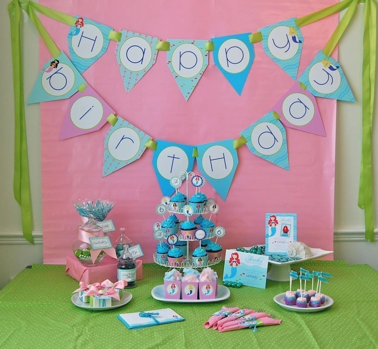 Little Mermaids Birthday Printable Party Pack By