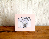 Camera Greetings card - Rebekahleigh