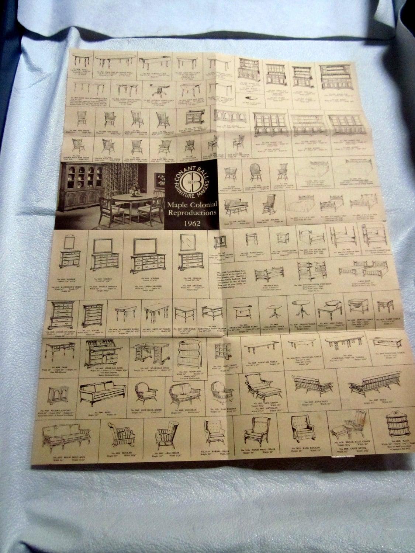 Vintage CONANT BALL Furniture Catalog Brochure Maple Wood Desk