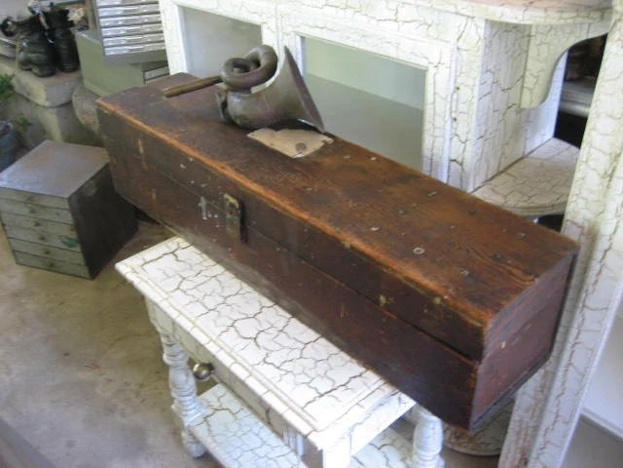 Three-foot Handmade Wooden Box: Long & Narrow By MerlesVintage