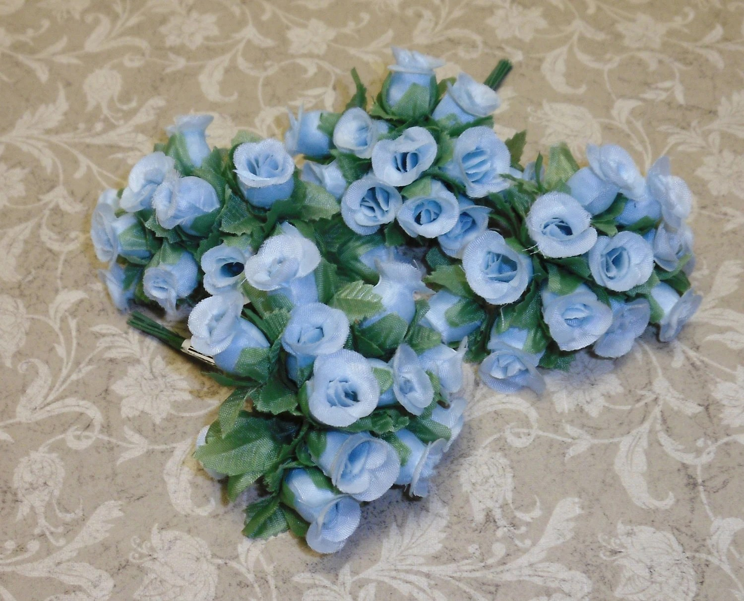 Artificial Flowers 144 Light Blue Poly Dry Rose By