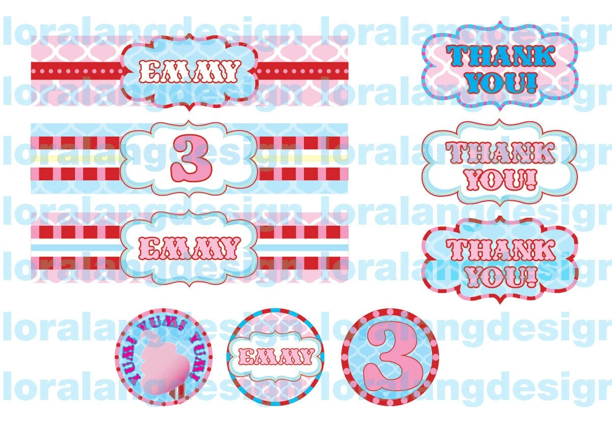 Diy Printable So Sweet Cotton Candy Birthday Party Pack