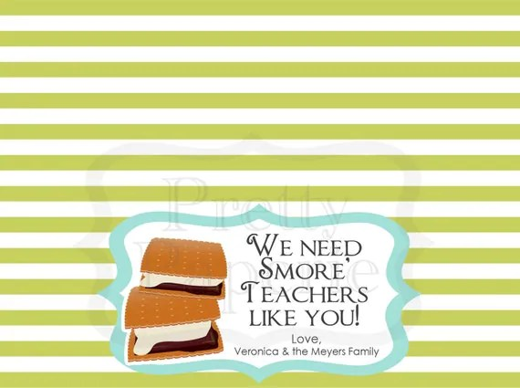 Teacher Gift: S'more Teachers Like You Treat Bag Tags - Printable PDF