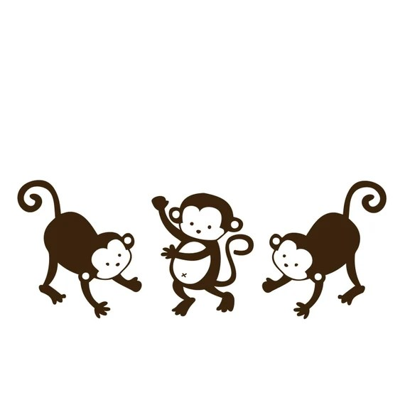 Three Monkeys Wall Decal for Decorating by stixdesign